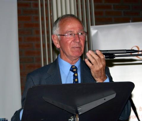 Photo by Ronnie Browne of Roy Blair, Chairman Quaker Service